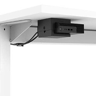 Thin Client Holder with Under Desk Mount