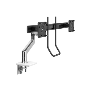 M8.1 Monitor Arm with Black Crossbar and Handle, Two-Piece Clamp Mount Base, Black with Black Trim