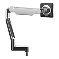 M2.1 Monitor Arm no mount, Polished Aluminium with White Trim