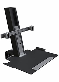 QuickStand Heavy Mount with Large Platform and Crossbar, Black
